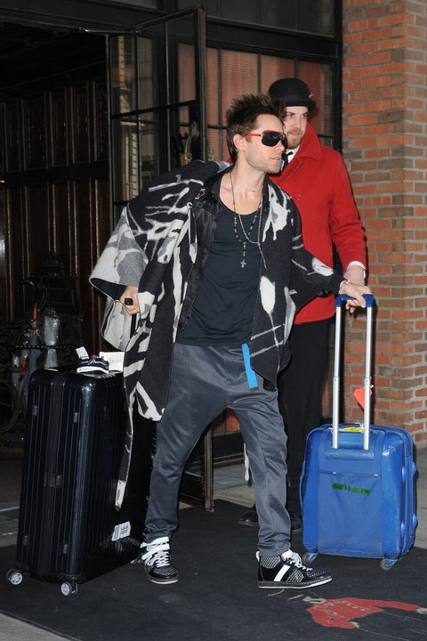 [2011] Jared à la sortie de son hotel New Yorkais 02110