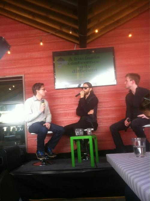 Jared Leto speaking at Fast Company grill 12 mars 2013  03610