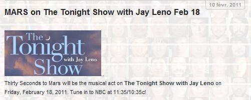 30 seconds to mars chez Jay Leno, le 13 janvier reporté au 18 Février 2011 Captur19