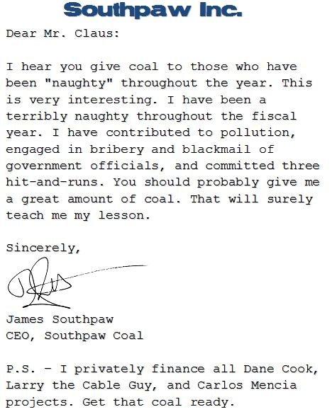 Најлошите писма до Дедо мраз за 2008 година Colleg15