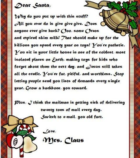 Најлошите писма до Дедо мраз за 2008 година Colleg17