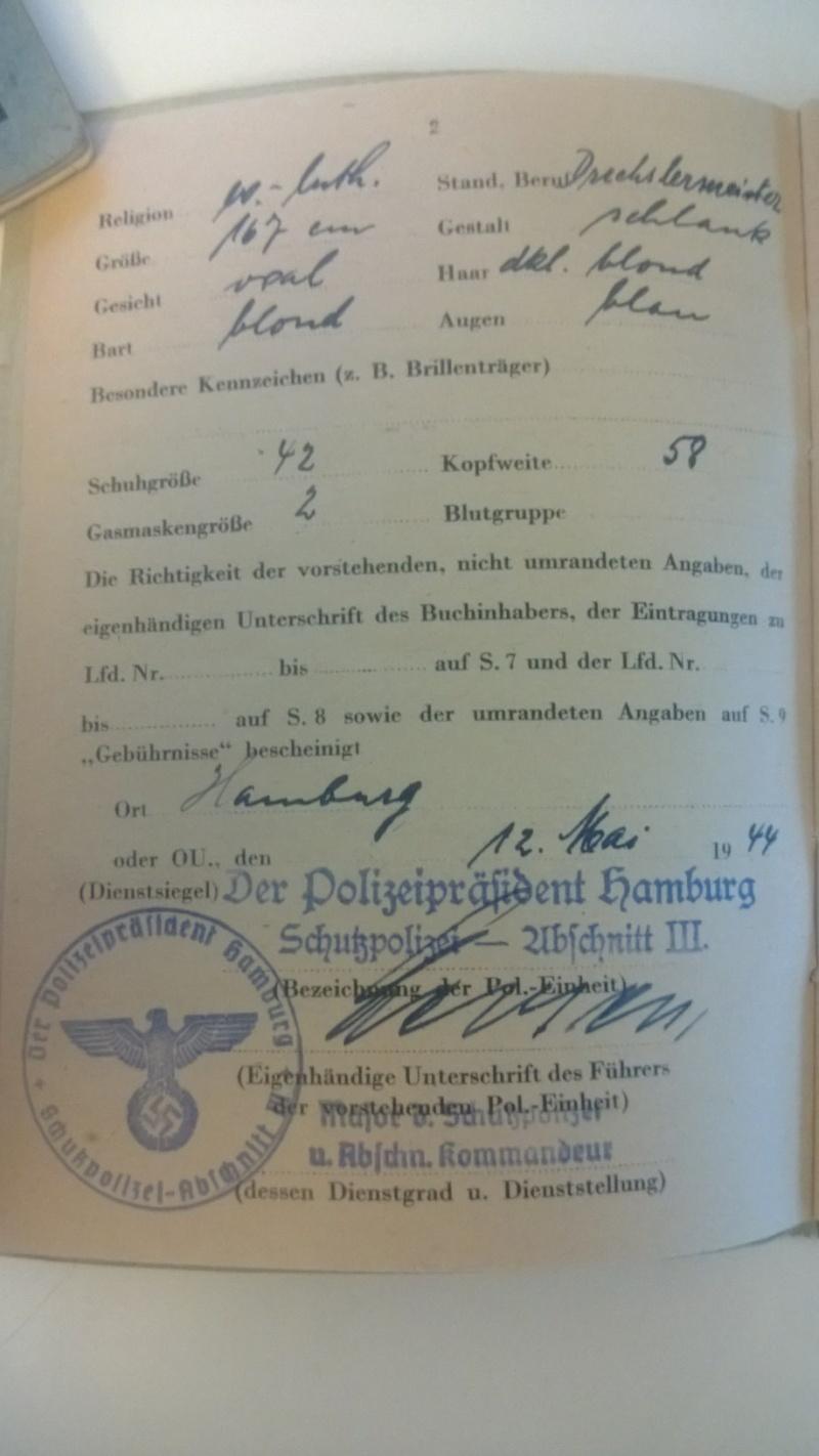 Soldbuch Polizei ! Mon premier ! Wp_20126