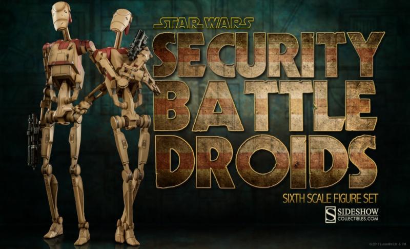 Sideshow - Security Battle Droids - Sixth Scale Figure Set Secbat10