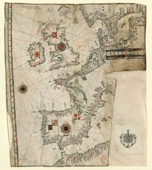 [carte] Carte de l'Océan Atlantique nord-est 16eme siecle Consul10