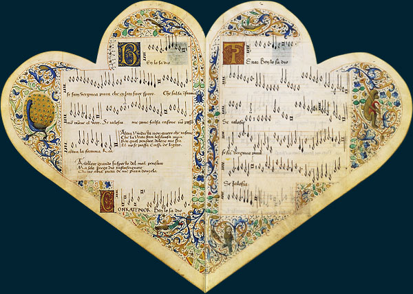 [manuscrits] forme de Coeur et Fleur de Lys  Manusc10