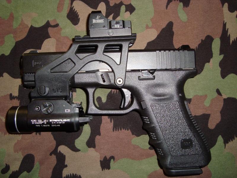 Beretta 92 et fibre optique Glock-10