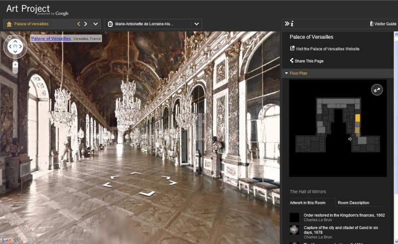 GOOGLE ART PROJECT : Palais de Versailles et autres grands musées Captu121