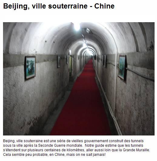 Ville souterraine de Xidan - Pekin - Chine. Captur94