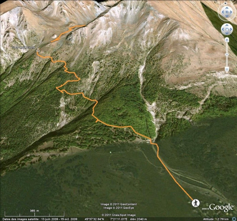 Comment naviguer en gardant la même élevation par rapport à l'altitude ? [Problème Google Earth résolu] Tr210
