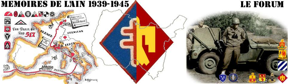 MEMOIRES DE L'AIN 39 - 45