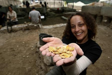 Hallan gran tesoro de monedas de oro en Jerusalén Foto10