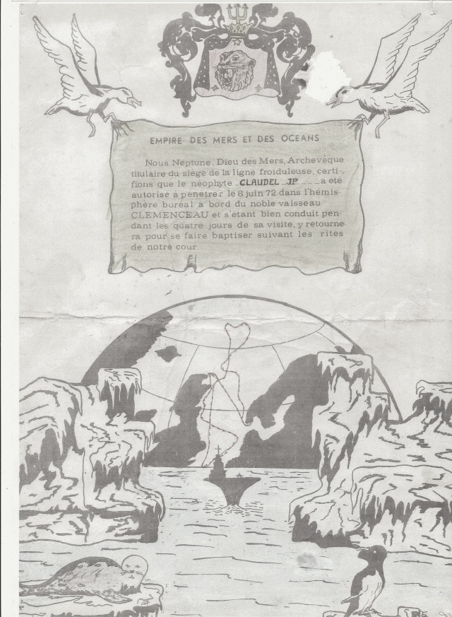[Les traditions dans la Marine] Passage du cercle polaire (Sujet unique) - Page 2 Cercle10