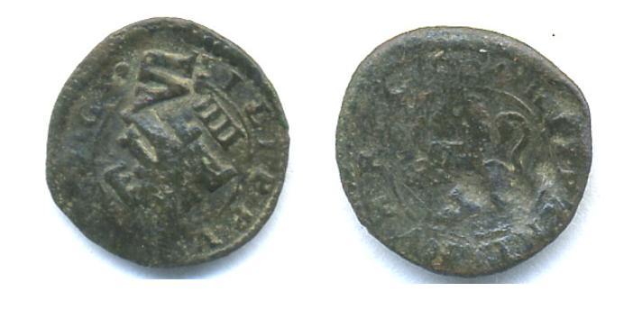 4 mar.  Felipe III - 1604 Seg. c/resello de VI (1641 Madrid) 4_m_co10
