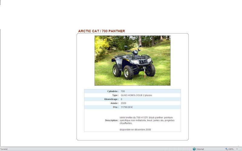 ARCTIC CAT panther 700 efi Panthe10