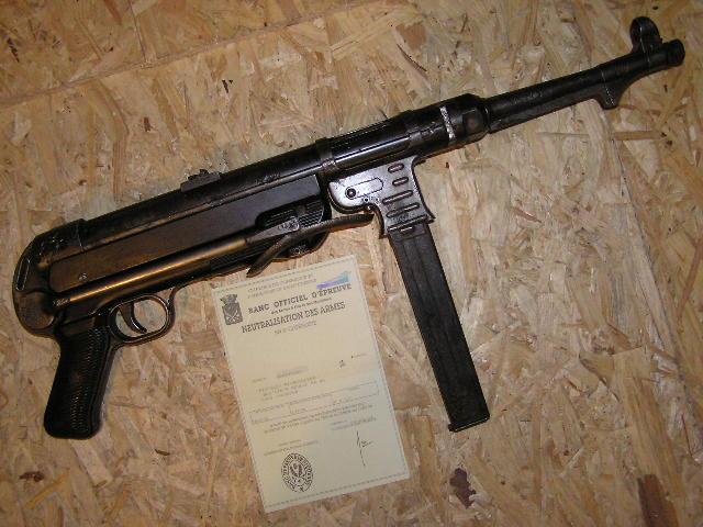 [VENDUE]MP40 neutra avec certif Mp4010