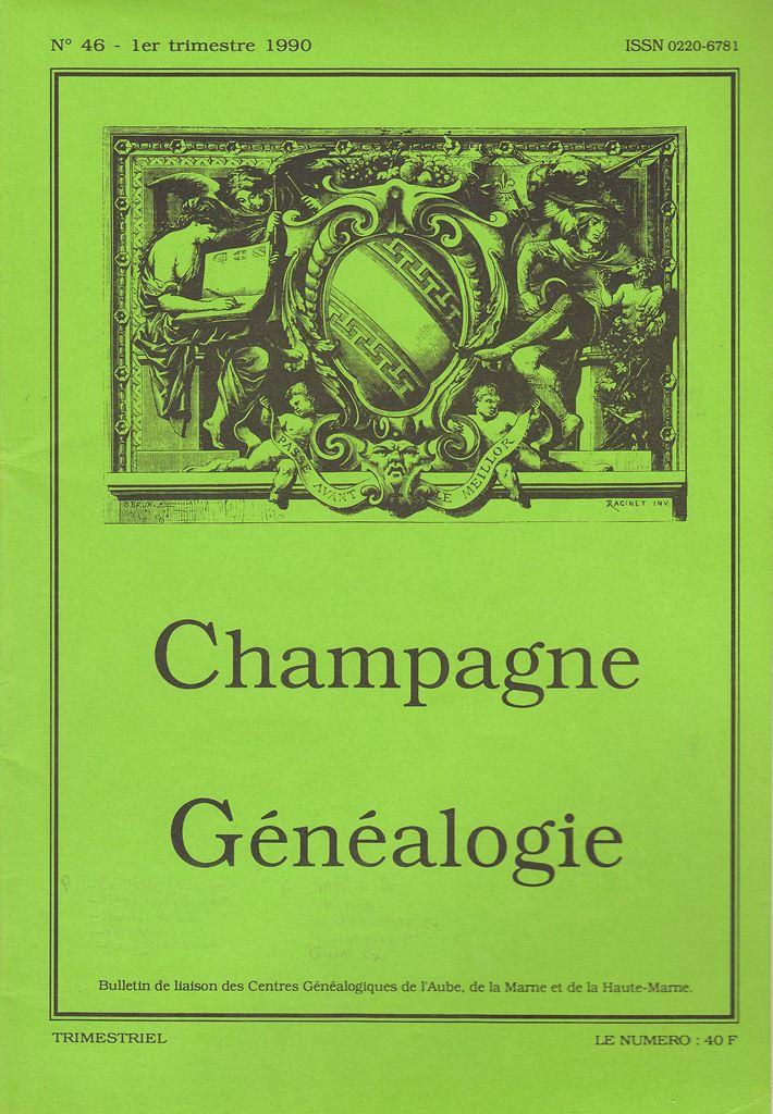 Bulletin de Liaison du Centre Généalogique de Champagne - Champagne Généalogie Champa10