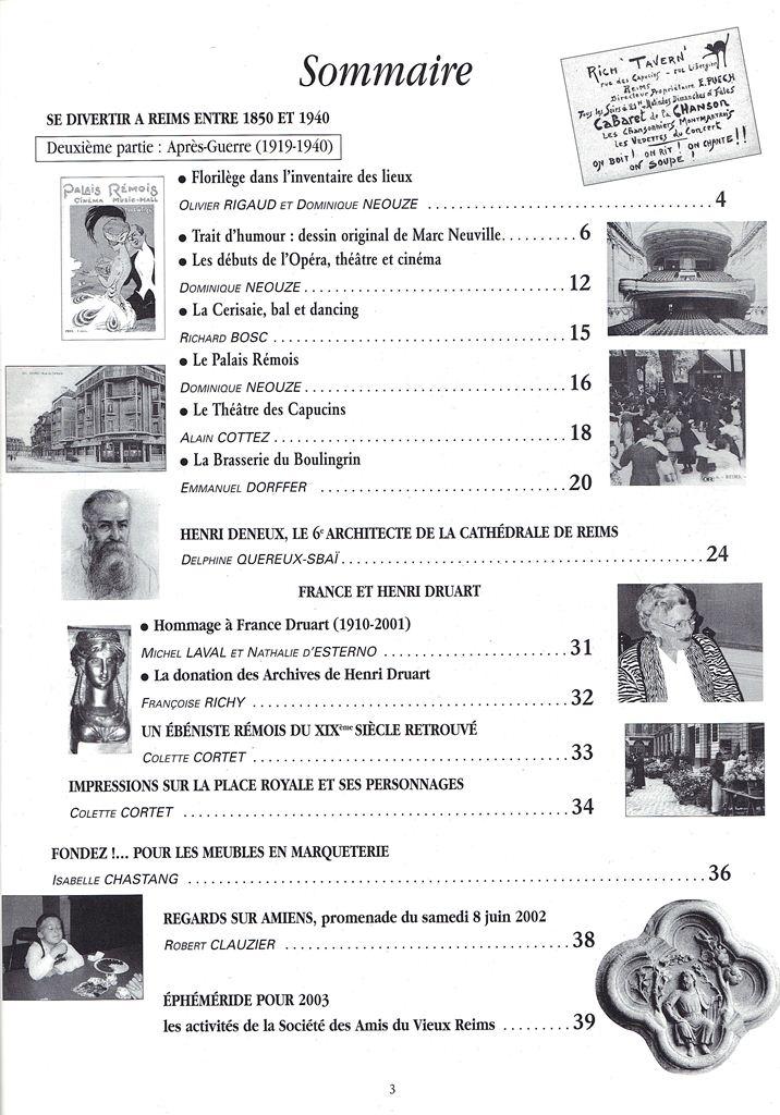 Regards sur notre Patrimoine - Bulletin de la Société des Amis du Vieux Reims Scan0027