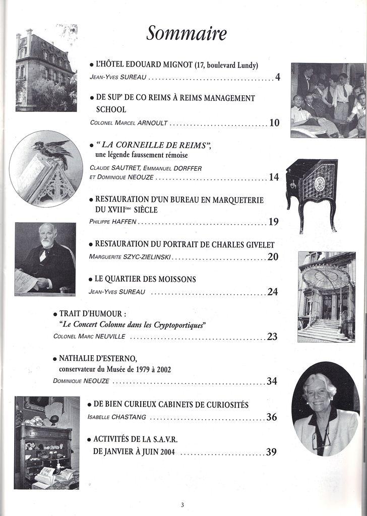 Regards sur notre Patrimoine - Bulletin de la Société des Amis du Vieux Reims Scan0029