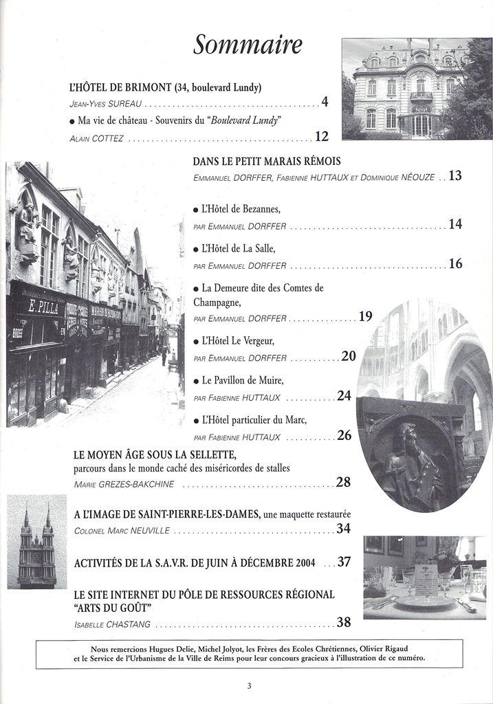 Regards sur notre Patrimoine - Bulletin de la Société des Amis du Vieux Reims Scan0031