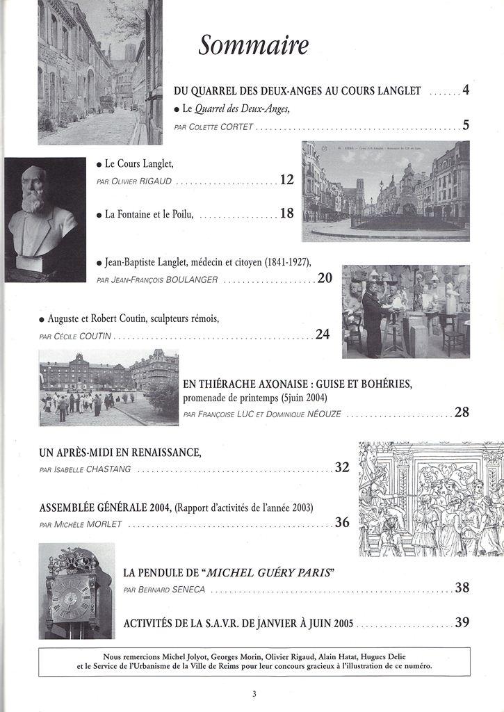 Regards sur notre Patrimoine - Bulletin de la Société des Amis du Vieux Reims Scan0033
