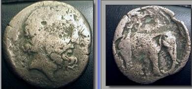 Monnaie Numide de JUBA I Eleph10