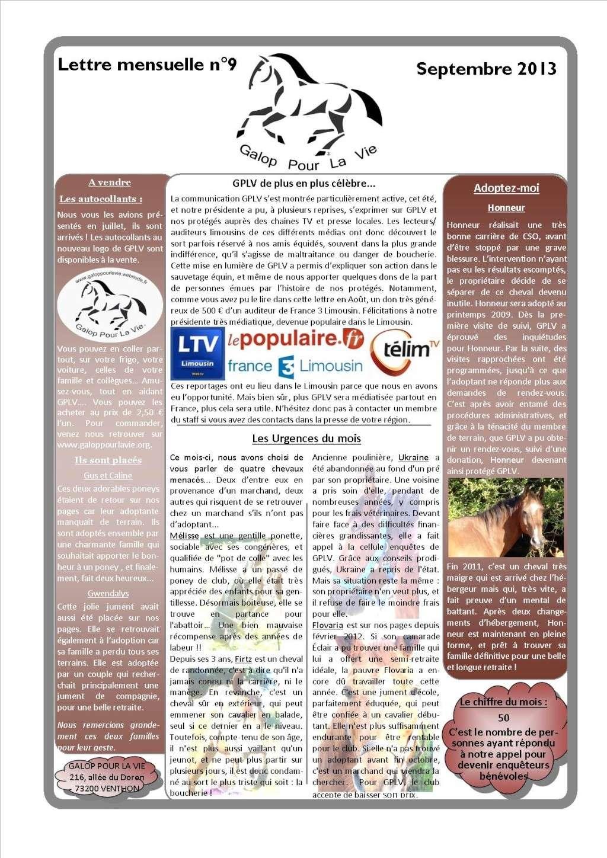 GPLV - Lettre mensuelle n°9 - Septembre 2013 Nl_sep10