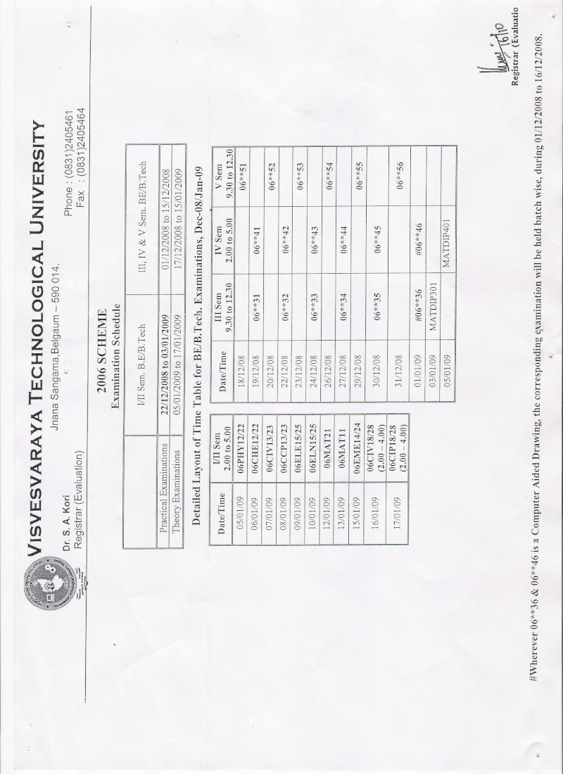 3rd sem time table for cs.... Exam110