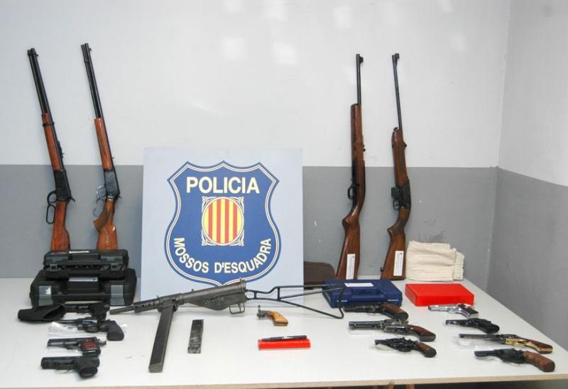 2 detinguts més per fabricació, tinença i contraban d'armes i municions en el marc de l'operació Torn Np205710
