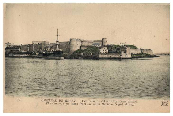 NEW - Brest et ses remparts Cp_cha10