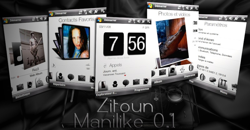 "manilike - [THEME : udpate 25.11.08] Zitoun ManiLike : 2 thèmes + Version ""GIRLY"". Prasen11"