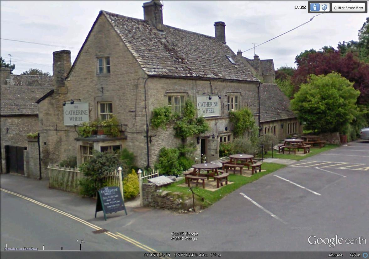 "[Royaume-Uni] - Restaurant/Pub ""The Catherine Wheel"", Bibury Le_cat10"