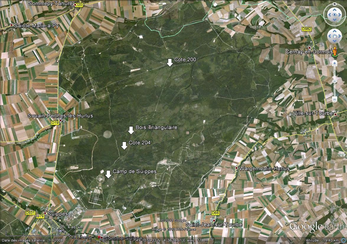 """Vestiges de la """"guerre des mines"""" (Première Guerre Mondiale) visibles dans Google Earth - Page 3 Perthe10"""