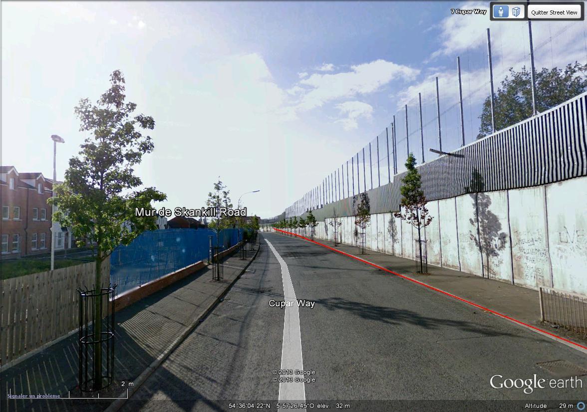 """[Royaume-Uni] - Les barrières de séparation de Belfast (""""Murs de la paix..."""") Skanki10"""