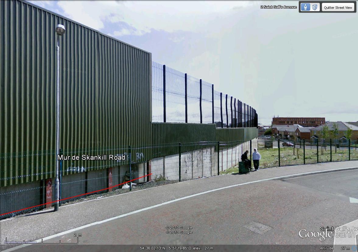 """[Royaume-Uni] - Les barrières de séparation de Belfast (""""Murs de la paix..."""") Skanki11"""