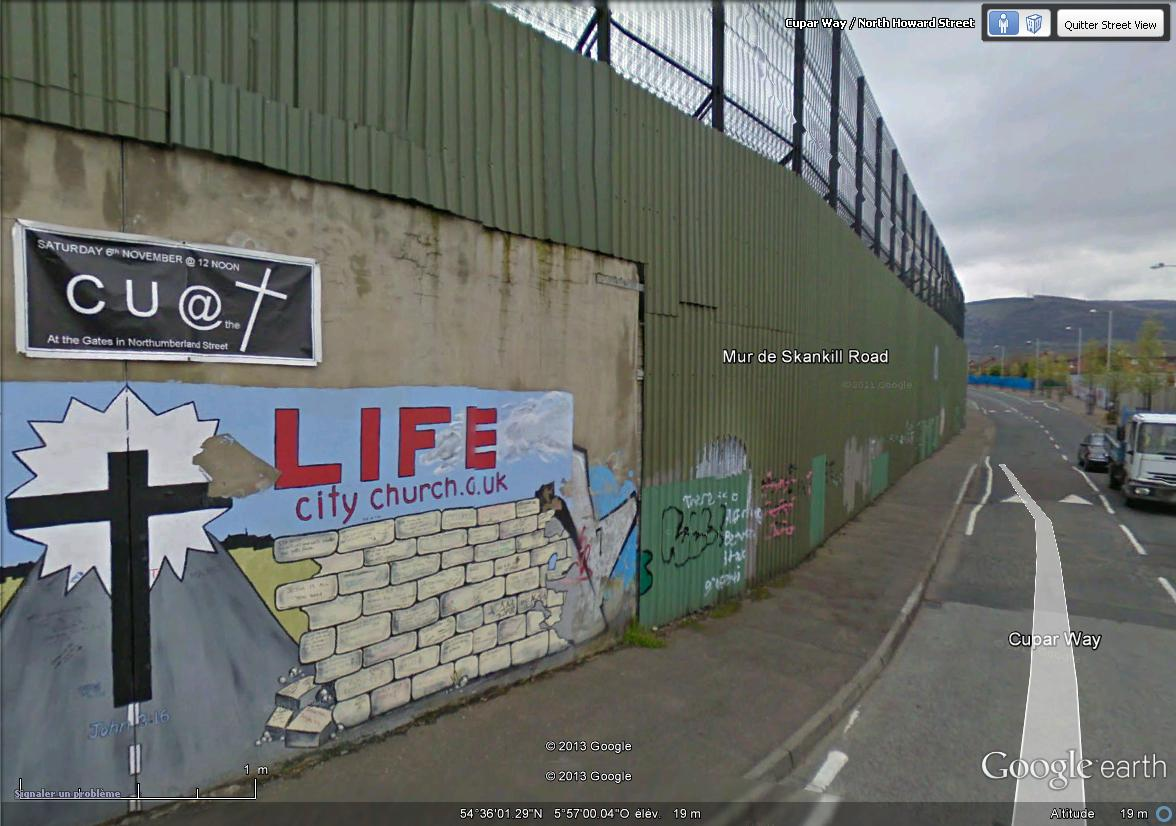 """[Royaume-Uni] - Les barrières de séparation de Belfast (""""Murs de la paix..."""") Skanti10"""