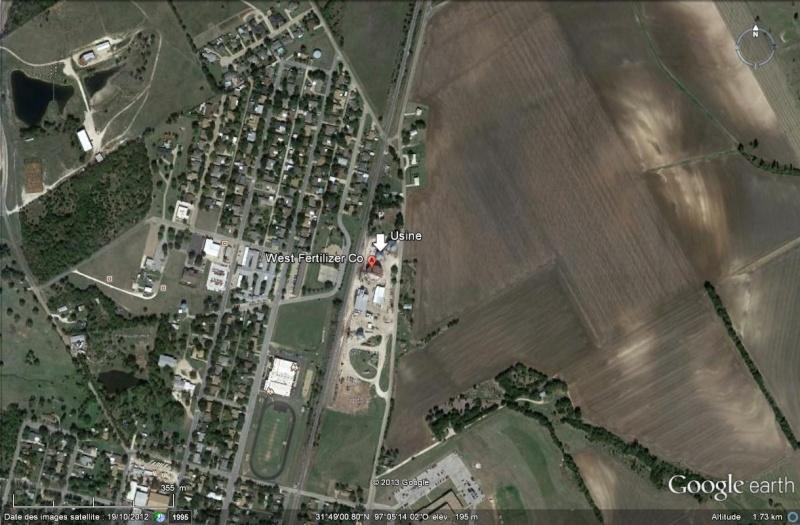 Texas : un feu dans l'usine d'engrais à l'origine de l'explosion Usine11