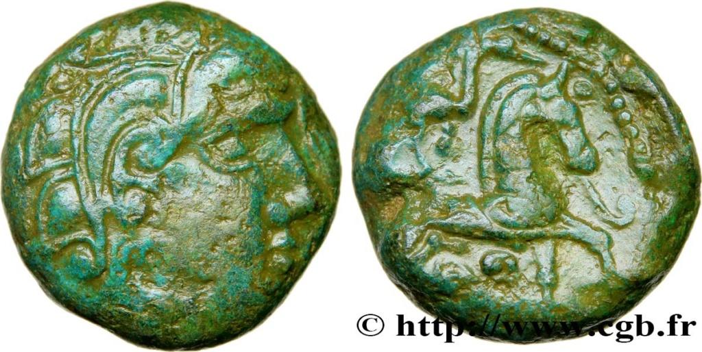 bronze gaulois au cheval et profil à droite à identifier Bga_4210