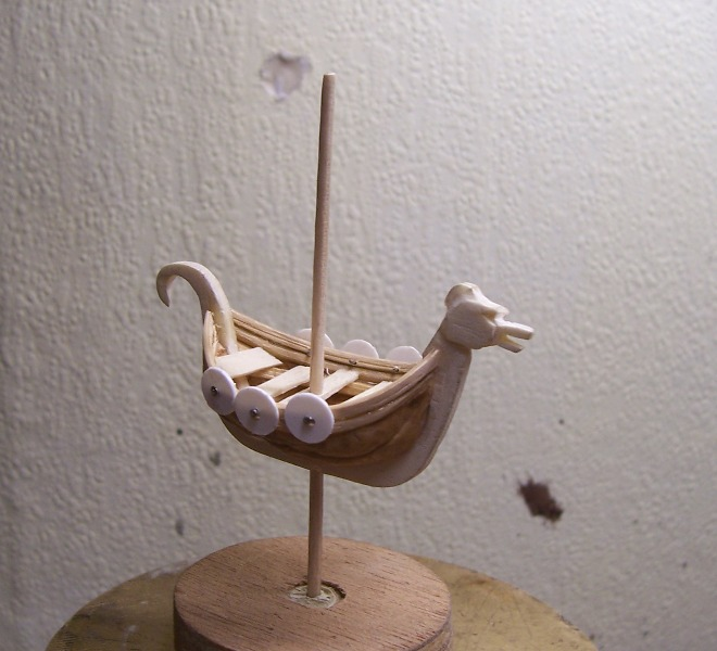Maquette Drakkar de noix Cnland10