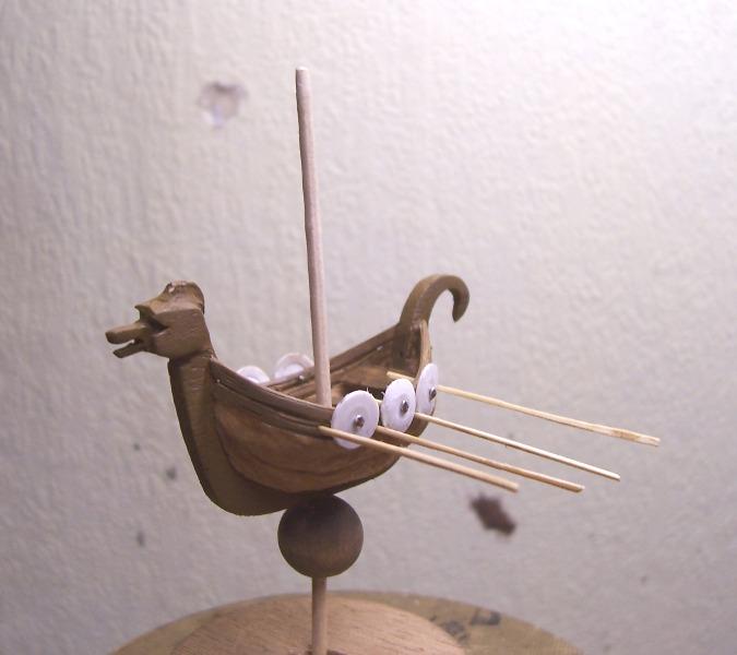 Maquette Drakkar de noix Cnland14