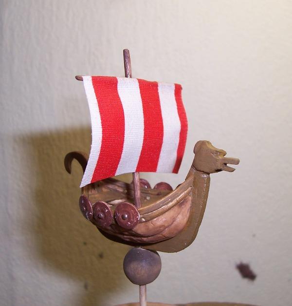 Maquette Drakkar de noix Cnland15