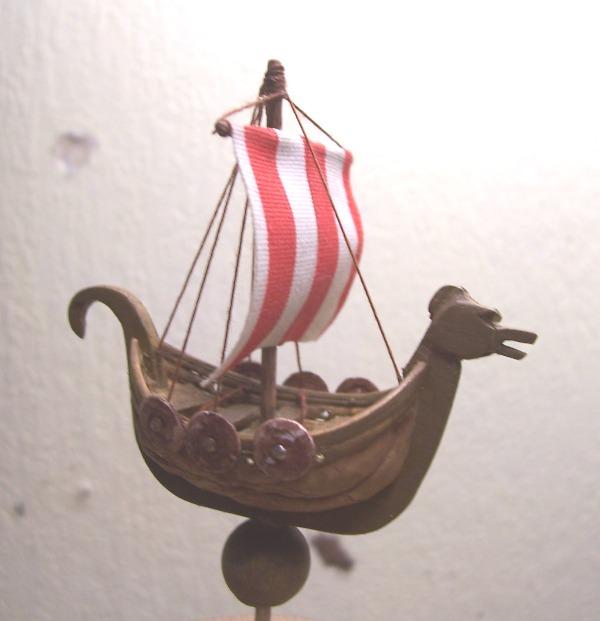 Maquette Drakkar de noix Cnland17