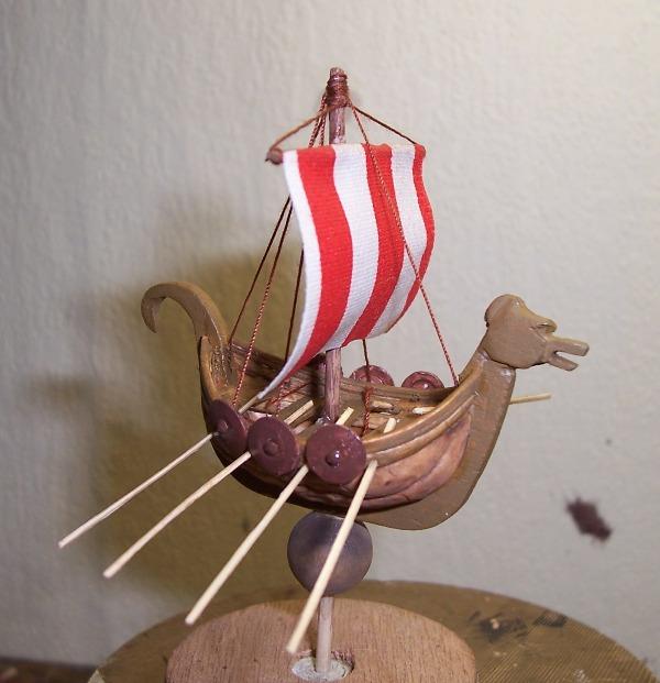Maquette Drakkar de noix Cnland22