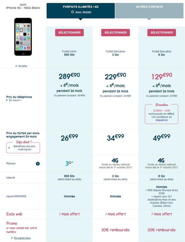 L'iPhone 5C en précommande chez Bouygues Telecom Iphone12