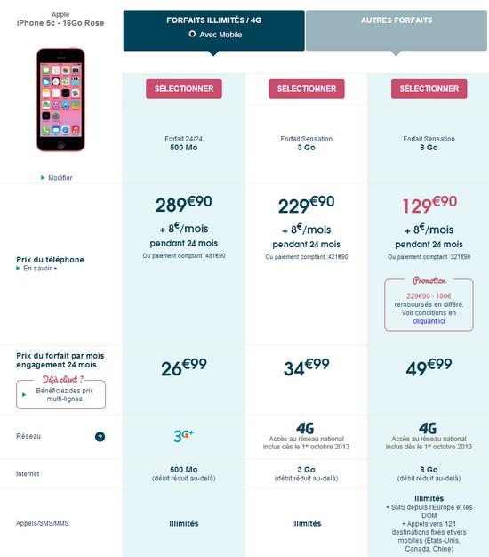L'iPhone 5S et 5C disponible chez Bouygues Telecom et B&YOU Iphone14
