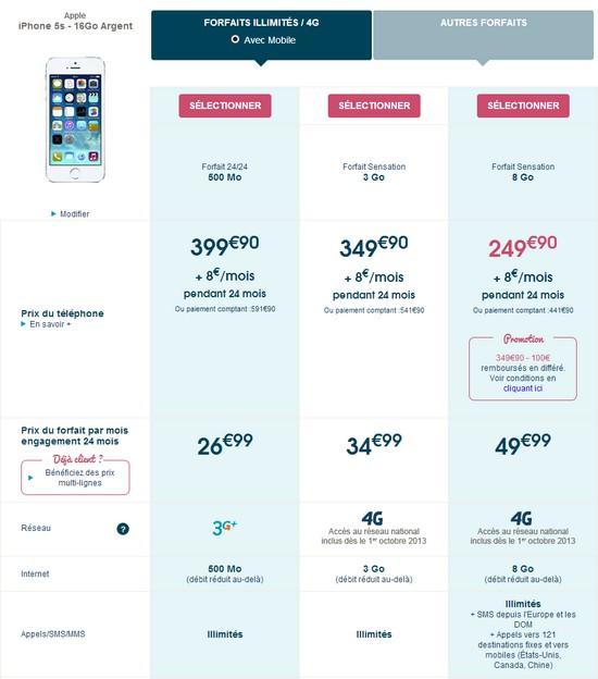 L'iPhone 5S et 5C disponible chez Bouygues Telecom et B&YOU Iphone15
