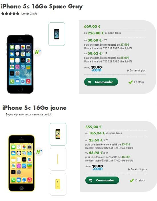 L'iPhone 5S et 5C disponible chez Bouygues Telecom et B&YOU Iphone16