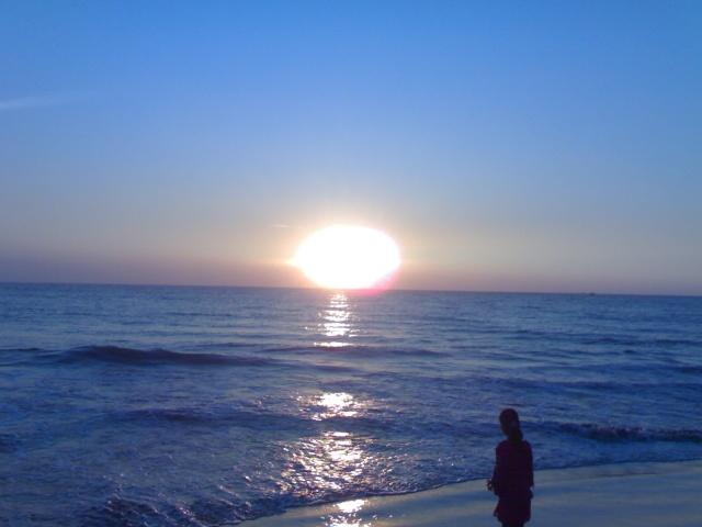 Sunset Picture of Cox's Bazar Sea Beach 04012010
