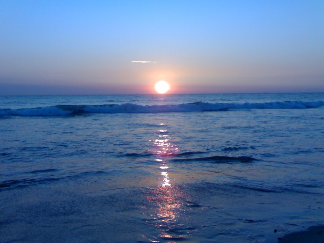 Sunset Picture of Cox's Bazar Sea Beach 04012011
