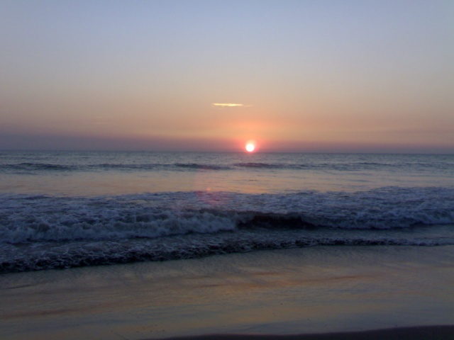 Sunset Picture of Cox's Bazar Sea Beach 04012012