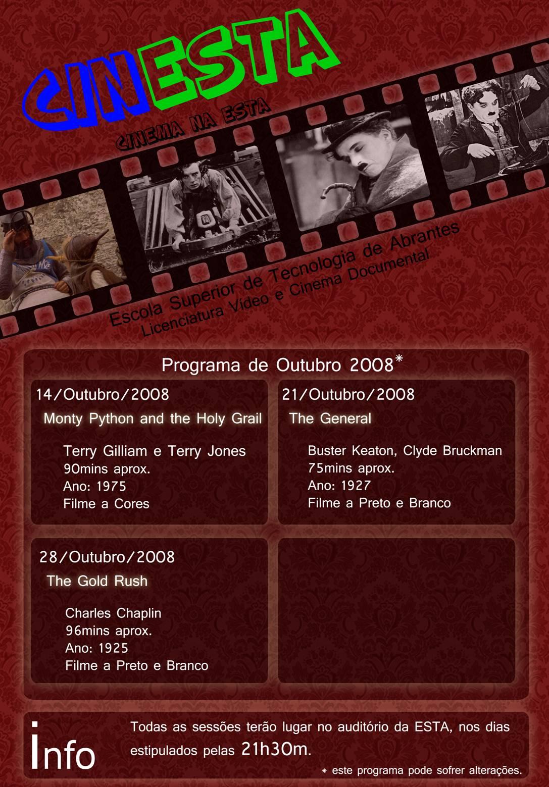 CINESTA - Cinema na Esta (Programa Outubro) Cinest10